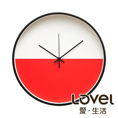 LOVEL 30cm 美式極簡金屬框靜音時鐘-共3款