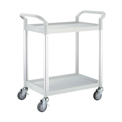 100%台灣製 標準型多功能二層工具餐車/置物架/手推車-優雅白