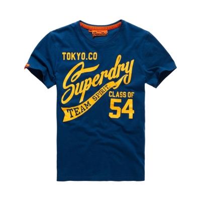 SUPERDRY 極度乾燥 文字短袖 T恤 深藍 0048