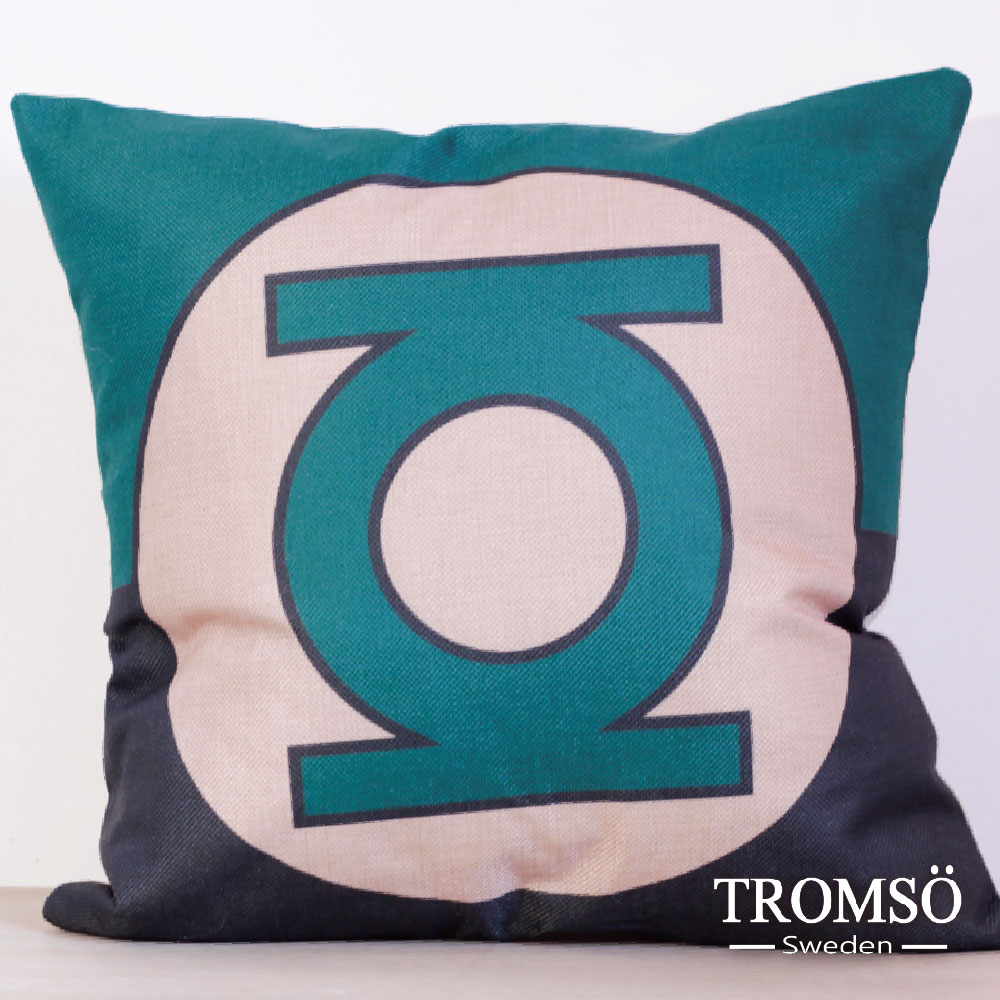 TROMSO-品味英倫棉麻抱枕-綠光戰警