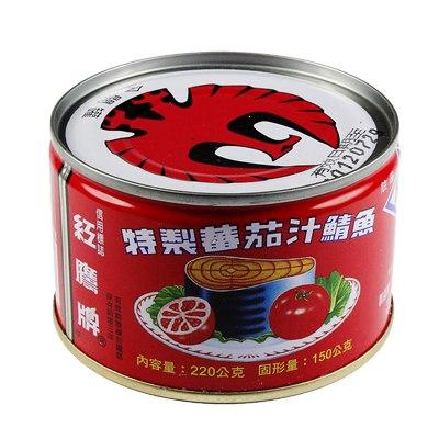 紅鷹牌 蕃茄汁鯖魚-紅罐(220gX6入)