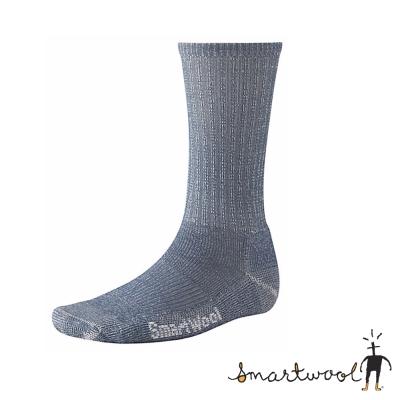 【美國 SmartWool】美麗諾羊毛 男 輕型健行中長襪(2入)_牛仔藍