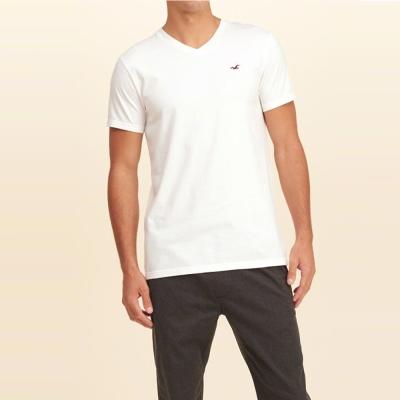 HCO Hollister 經典刺繡海鷗素色短袖T恤-白色