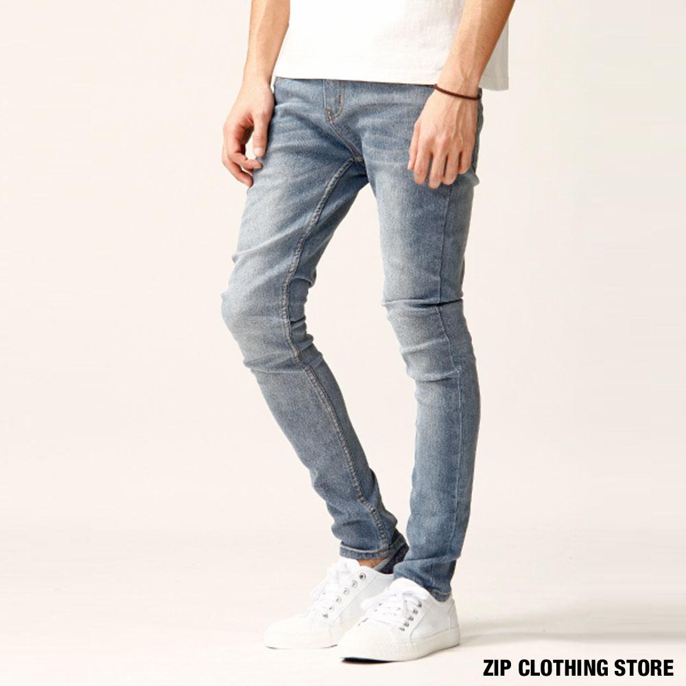 窄管丹寧牛仔褲(9色) ZIP日本男裝