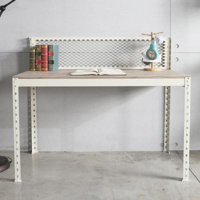 H&D 角鋼美學-工業風免鎖角鋼書桌/工作桌-2色(122x62x105cm)