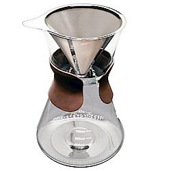 SYG不鏽鋼濾網 免濾紙手沖咖啡壺880ML