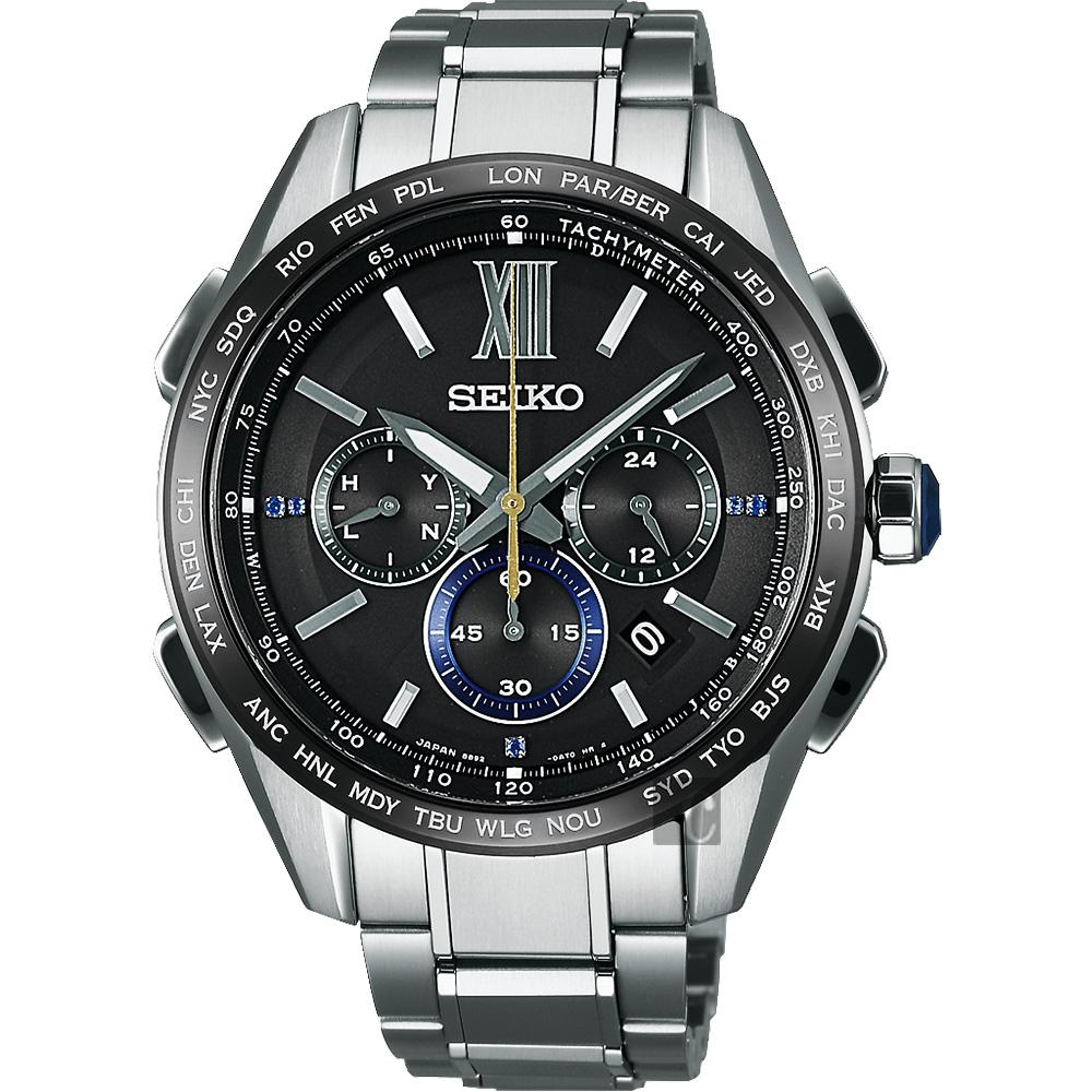 SEIKO精工 Brightz 135週年限量鈦計時太陽能電波腕錶(SAGA225J)
