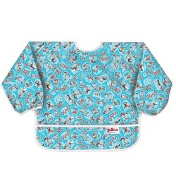 【美國Bumkins】小童長袖防水圍兜-帽子貓 BKSU-C01