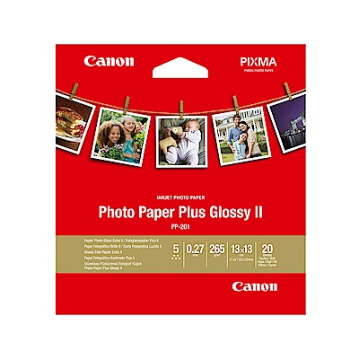 Canon PP-201 5x5 超光亮相片紙 20張