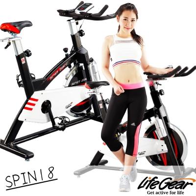 【來福嘉 LifeGear】27878 SPIN18前驅飛輪健身車(高CP靜音型)