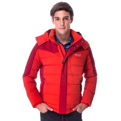 【hilltop山頂鳥】男款WS抗風蓄熱羽絨短大衣F22MU3橘