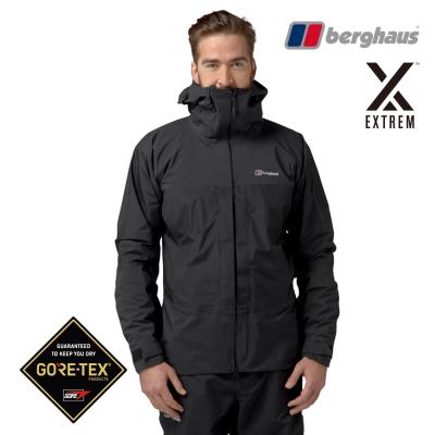【Berghaus貝豪斯】男款頂級GT防水透氣登山連帽外套H22MV4黑