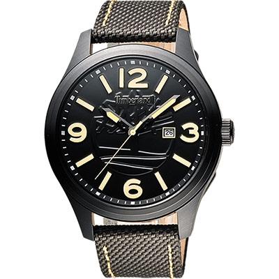Timberland 絕地任務時尚腕錶-黑x灰綠/45mm