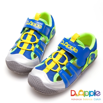 Dr. Apple 機能童鞋 狗骨頭玩樂青春涼童鞋-藍