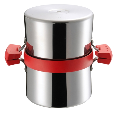 UCHICOOK-健康兩用油炸鍋-濾油壺-紅色
