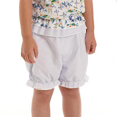 愛的世界 純棉鬆緊帶直條紋短褲/1~3歲