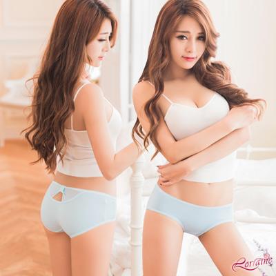 內褲 低腰水鑽造型三角內褲(藍) Lorraine