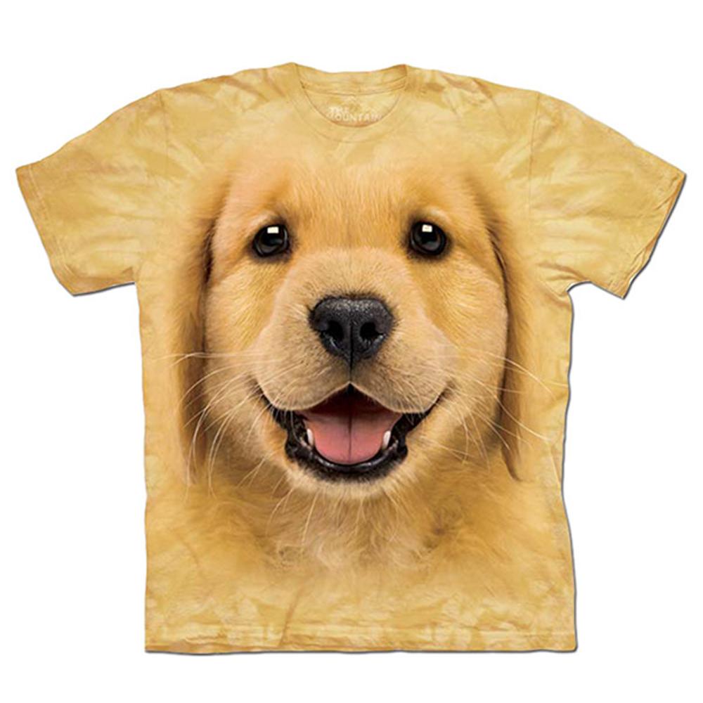 摩達客 美國進口The Mountain 小黃金獵犬 純棉環保短袖T恤