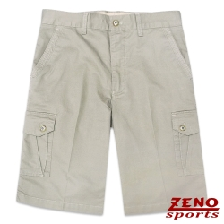 ZENO 水洗立體層次多口袋休閒短褲‧卡其色31~42