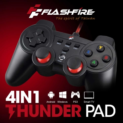 FlashFire THUNDER PAD 4IN1 有線遊戲手把SF4-1120V-BR