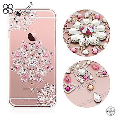 apbs iPhone6s/6 Plus 5.5吋 施華洛世奇彩鑽手機殼-映雪戀