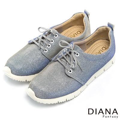 DIANA-輕-愛的-甜嫩滿天星直紋綁帶平底鞋-紫