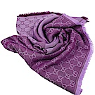 GUCCI 經典G LOGO造型圍巾/大方巾(紫紅)
