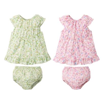 baby童衣 森林系背心上衣裙+麵包褲 2件套 73002