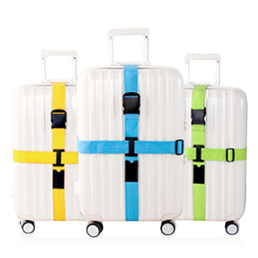 旅遊首選 行李箱十字緊扣行李保護 束帶 打包帶 綑綁帶(綠色)