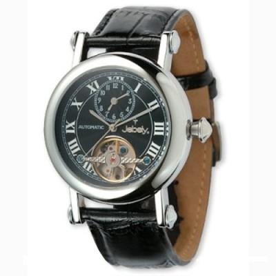 瑞士Jebely 經典鏤空擺輪機械錶(個性黑)