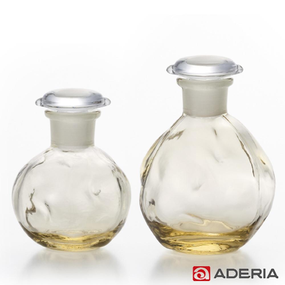【ADERIA】日本進口圓形玻璃調味罐2入組(黃)