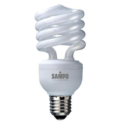 SAMPO 23W T3螺旋省電燈泡-黃光-5入裝 LB-U23SLB