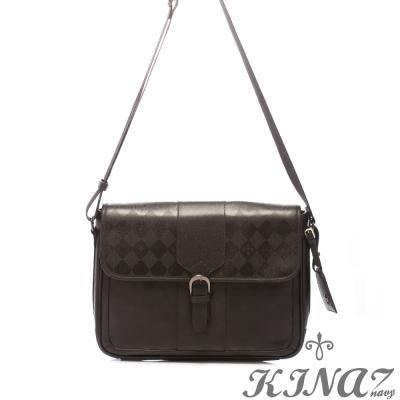 KINAZ-navy-品味時尚斜背包-紳士布萊克系列-特賣品