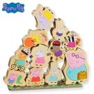 【麗嬰房】粉紅豬小妹木頭堆高遊戲組