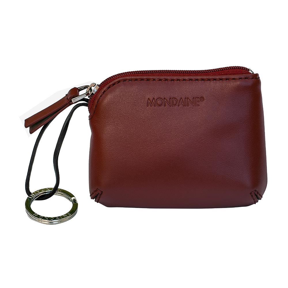 Mondaine 瑞士國鐵經典系列牛皮鑰匙零錢包-紅色