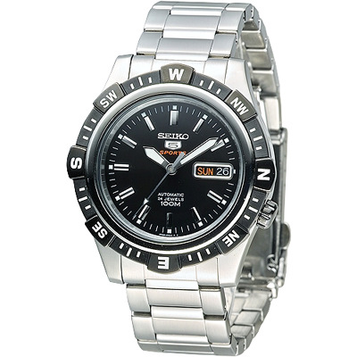 SEIKO 尖端盾牌5號24石機械腕錶(SRP139K1)-IP黑框/43mm