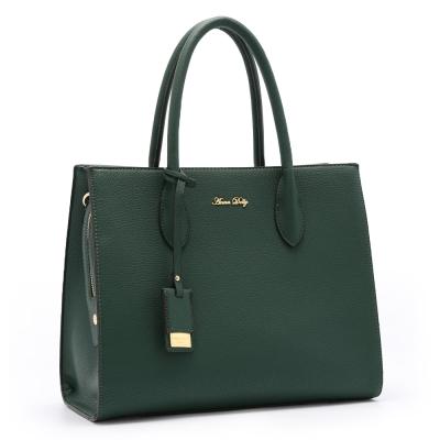 ANNA DOLLY 簡約優雅Cora兩用肩提包 古典綠