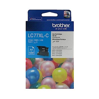 Brother LC77XL-C 原廠超高容量藍色墨水匣