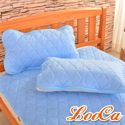 LooCa 新一代酷冰涼枕用保潔墊1入(藍)