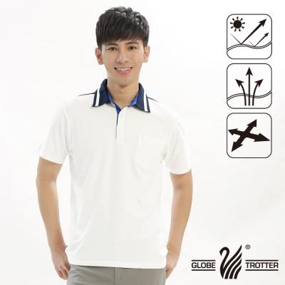 【遊遍天下】男款抗UV吸濕排汗機能POLO衫GS10012白色