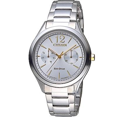 CITIZEN星辰經典時刻Eco-Drive時尚腕錶(FD4024-87A)-38mm/銀