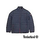 Timberland 男款深藍色橫紋修身短款棉外套