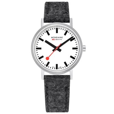 MONDAINE 瑞士國鐵Classic限量腕錶-36mm/銀灰