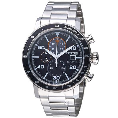 CITIZEN 光動能計時時尚腕錶(CA0641-83E)-黑/45mm