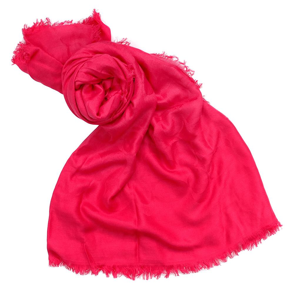 COACH果紅大C Logo披肩式圍巾142x140