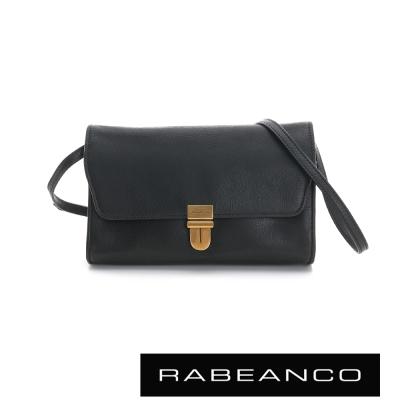RABEANCO迷時尚系列牛皮翻蓋包-黑