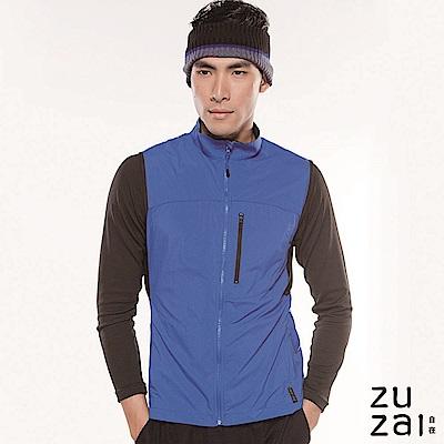 zuzai 自在親膚透氣防潑水背心-男-藍色
