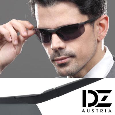 DZ 都市遊俠 抗UV 偏光太陽眼鏡墨鏡(黑灰系)