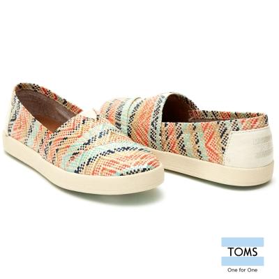 TOMS 藤編織紋懶人鞋-女款(紅)