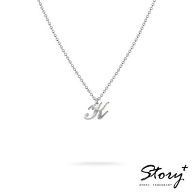 STORY ACCESSORY-字母系列-字母K 純銀項鍊